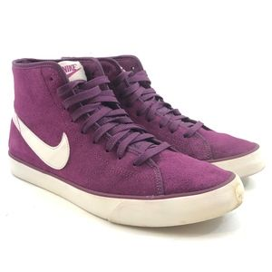 Nike Primo Court Mid Suede Sneakers Mulberry Sz8.5